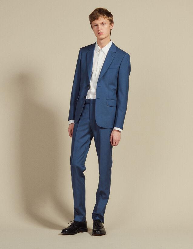 Anzughose Aus Wolle : Anzüge & Smokings farbe Blaugrau