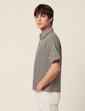 Schach-Hemd Aus Japanischem Stoff : Hemden farbe Schwarz