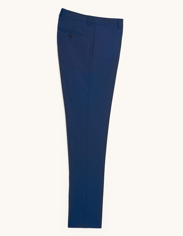 Anzughose aus Wolle und Mohair : Anzüge & Smokings farbe Blau