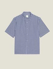 Vichy-Hemd Aus Japanischem Stoff : Sélection Last Chance farbe Marine