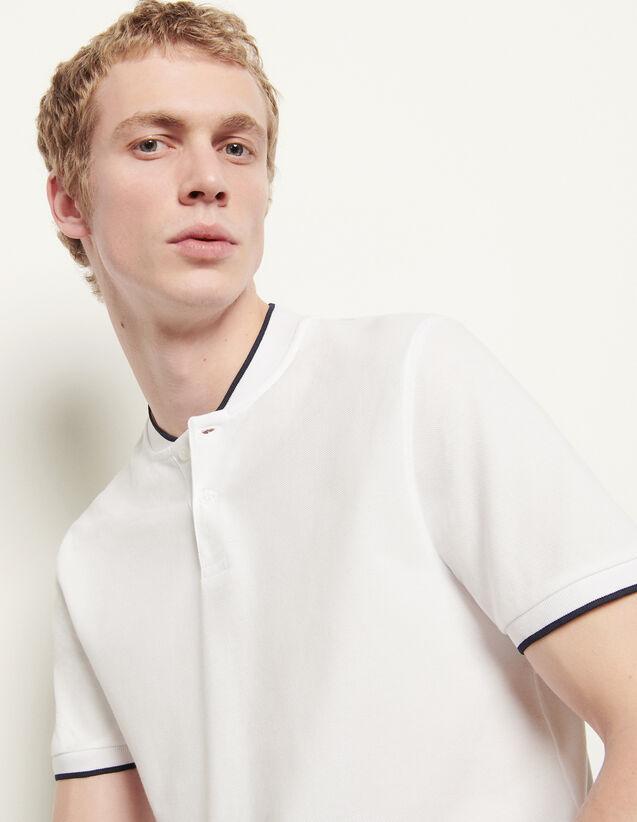 Poloshirt mit kontrastierendem Kragen : Winterkollektion farbe Schwarz