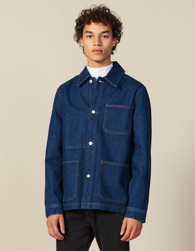 Workwear-Jacke Aus Denim : Neue Kollektion farbe Blue Vintage - Denim
