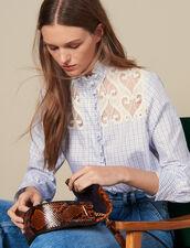 Karohemd mit Stehkragen : Tops & Hemden farbe Ecru