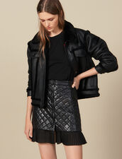 Kurzer Rock Aus Gestepptem Leder : Röcke & Shorts farbe Schwarz