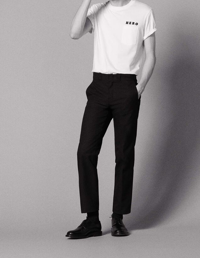 Gerade geschnittene City-Hose : Jede Auswahl farbe Schwarz