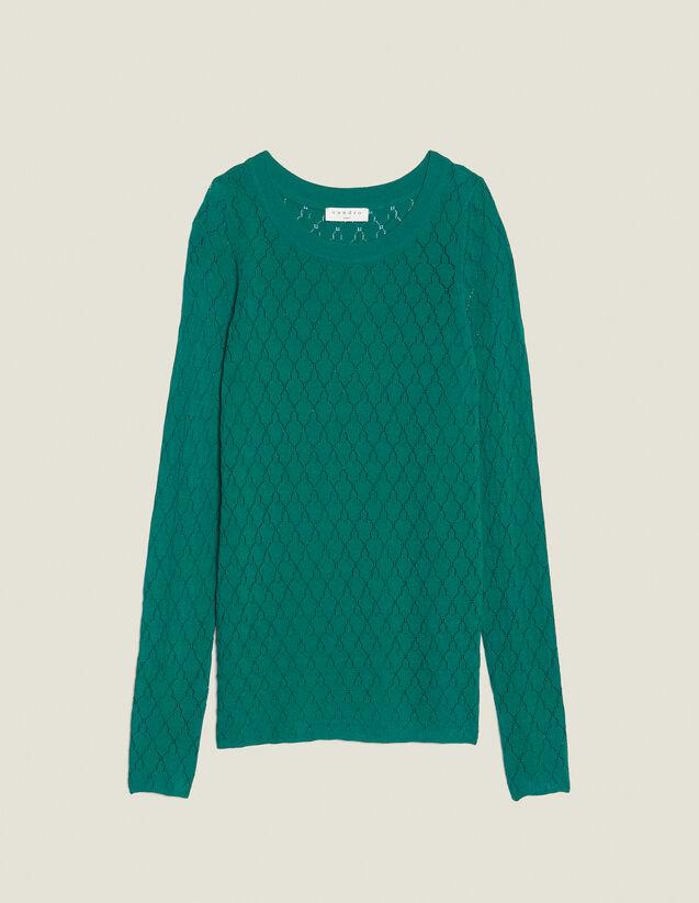 Verspielter Langarm-Pullover : Pullover & Cardigans farbe Grün
