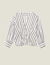 Hemdbluse Aus Gestreiftem Popeline : LastChance-ES-F50 farbe Weiß