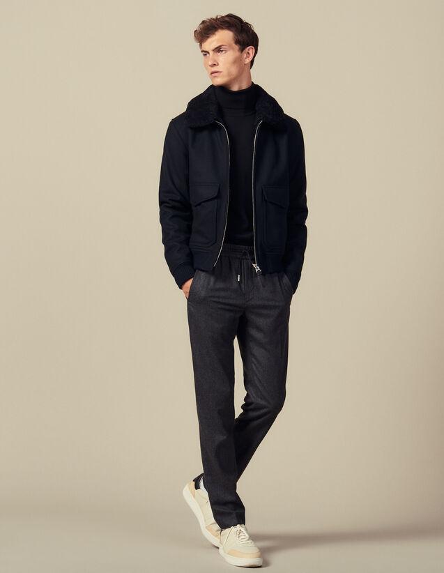 Hose Mit Elastischem Taillenbund : Hosen & Shorts farbe Grau Meliert