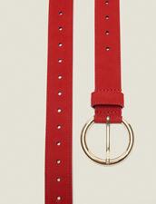 Gürtel Aus Leder : Sommer Kollektion farbe Rouge vif