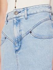 Kurzer Jeansrock Mit Ziernähten : LastChance-CH-FSelection-Pap&Access farbe Blue Vintage - Denim