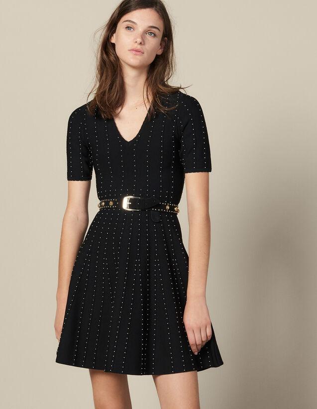 Strickkleid Mit Kleinen Perlen : Kleider farbe Schwarz
