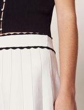 Kurzer Strickrock Mit Plissee-Effekt : Röcke & Shorts farbe Ecru
