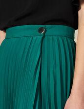 Asymmetrischer Plissee-Wickelrock : null farbe Grün