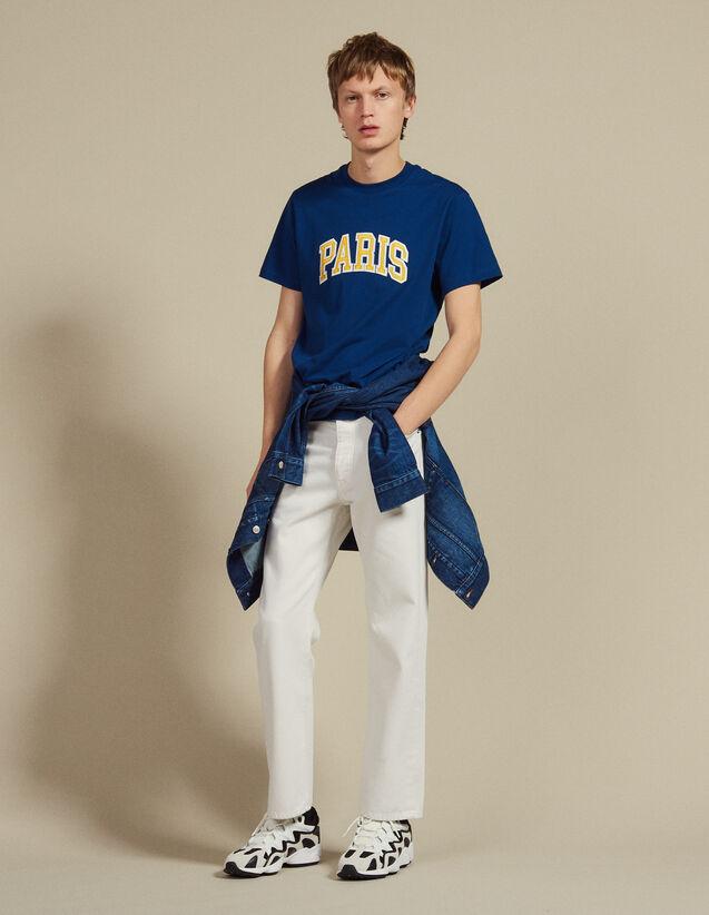 T-Shirt Mit Schriftzug : Sélection Last Chance farbe Blau