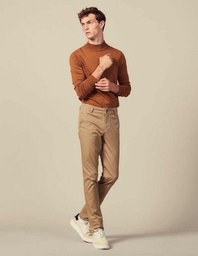 Chino Aus Baumwolle : Hosen & Shorts farbe Beige