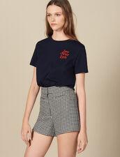 T-Shirt Aus Baumwolle Mit Schriftzug : FBlackFriday-FR-FSelection-40 farbe Marine