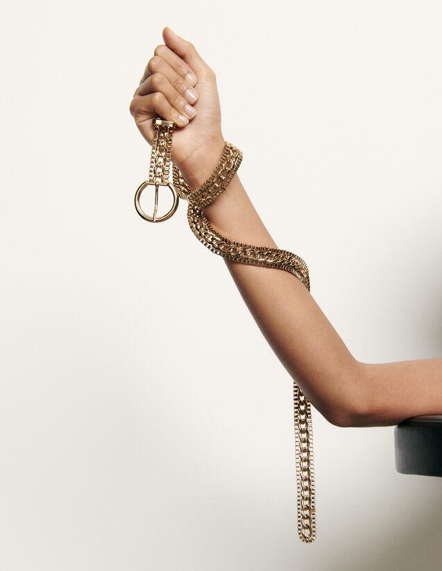 Gürtelschnalle mit runder Schliesse : Sommer Kollektion farbe Gold