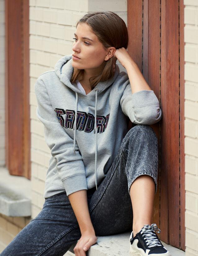 Sweatshirt mit Sandro-Schriftzug : FBlackFriday-FR-FSelection-30 farbe Grau