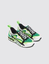 Sneaker Flame : Schuhe farbe Vert fluo