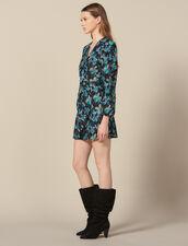 Tüllkleid mit Paillettenstickerei : Das beste der Saison farbe Noir/turquoise