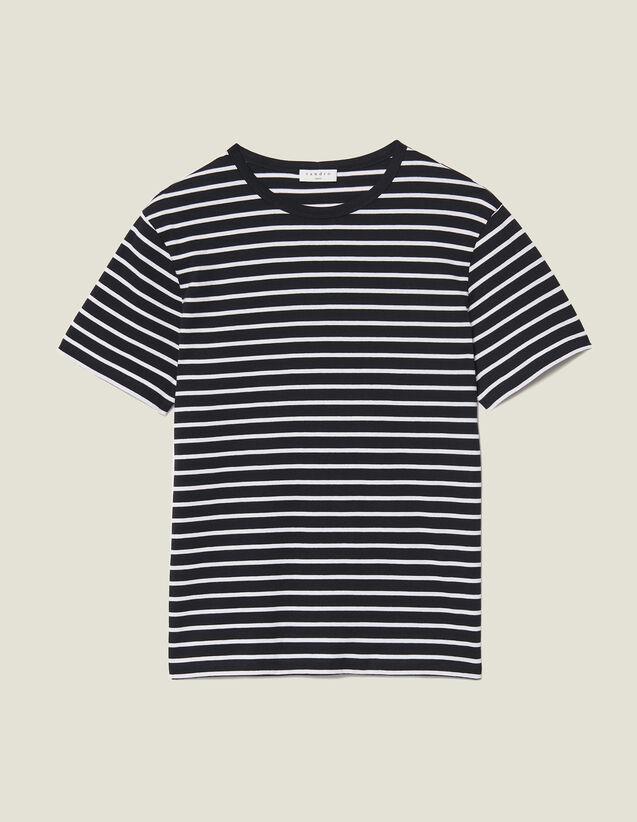 T-Shirt im Matrosenstil : T-Shirts & Polos farbe Schwarz/Ecru