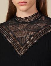 T-Shirt Mit Spitzenplastron : FBlackFriday-FR-FSelection-30 farbe Schwarz