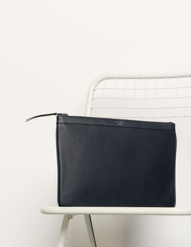 Reißverschlusspochette : Alle Lederwaren farbe Schwarz