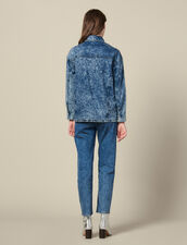 Jeanshemdbluse Mit Nieten : Tops & Hemden farbe Blue Night - Denim