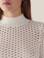 Langarm-Pullover In Netzoptik : Pullover & Cardigans farbe Weiß