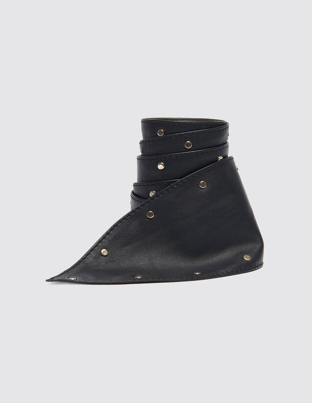 Breiter Bindegürtel Mit Nieten : Die ganze Winterkollektion farbe Schwarz