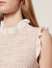 Kurzes Gerades Tweedkleid : null farbe Rosa