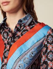 Fließendes Hemdkleid Mit Print : LastChance-CH-FSelection-Pap&Access farbe Blau
