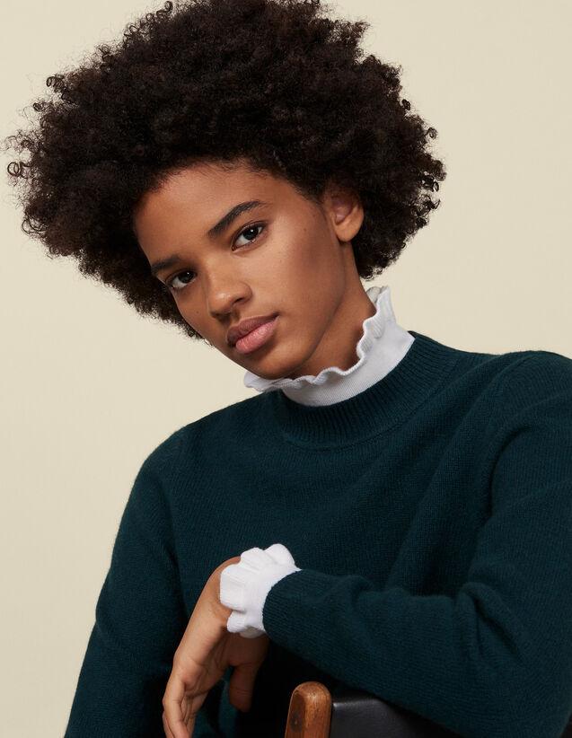 Pullover mit Kontrastbündchen : Pullover & Cardigans farbe Grün