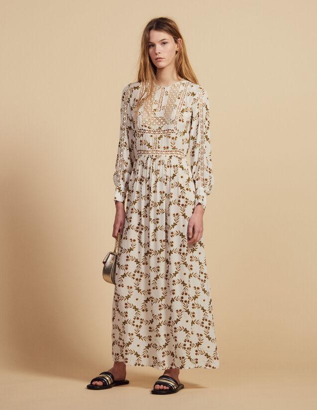 Langes, Fließendes Kleid : Kleider farbe Ecru