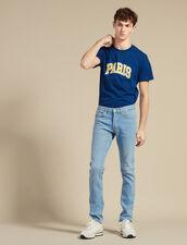 Schmal Geschnittene Washed Jeans : Jeans farbe Blue Vintage - Denim