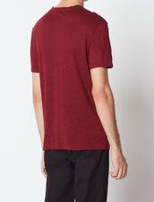 T-Shirt Aus Leinen : T-shirts & Polos farbe BORDEAUX FONCE