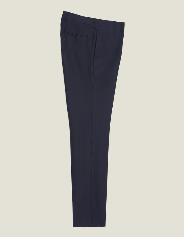Anzughose Aus Wolle In Panamabindung : Anzüge & Smokings farbe Marine