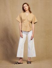 Kurzarm-Hemdbluse Aus Baumwolle : Tops & Hemden farbe Beige