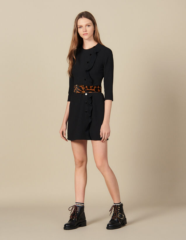 Kurzes  Wickelkleid : Kleider farbe Schwarz