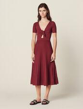 Midi-Kleid Aus Ajourstrick : Kleider farbe Terre de feu
