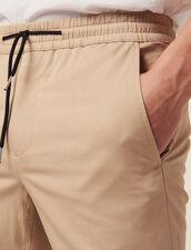 Hose Mit Elastischem Bund Aus Baumwolle : SOLDES-CH-HSelection-PAP&ACCESS-2DEM farbe Beige