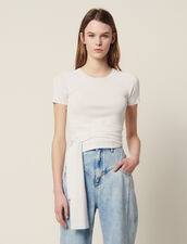 Stricktop Mit Bindeband : Tops & Hemden farbe Weiß