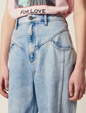 Verwaschene Jeans Mit Passen : null farbe Blue Vintage - Denim