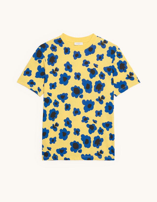 Bedrucktes T-Shirt : Sommerkollektion farbe Gelb