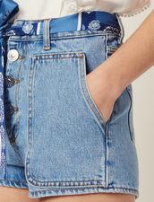 Shorts Aus Jeans Mit Halstuchgürtel : LastChance-FR-FSelection farbe Blue Vintage - Denim