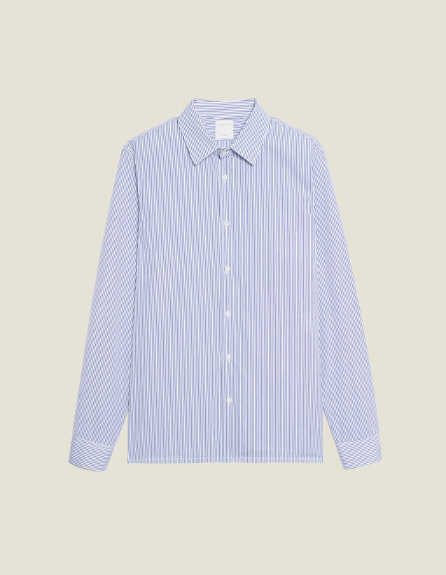 Formelles Hemd aus Baumwolle : Hemden farbe Weiss/Blau