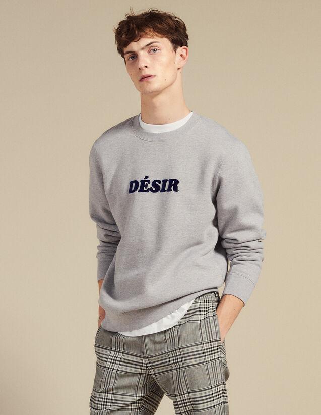 Sweatshirt Aus Baumwolle Mit Schriftzug : Sweatshirts farbe Grau Meliert