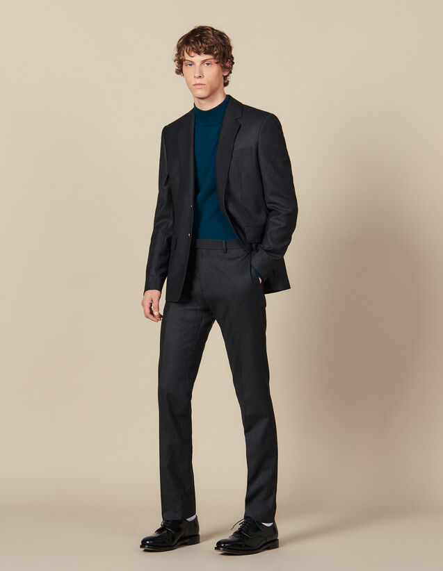 Anzughose aus Wolle : Anzüge & Smokings farbe Anthrazit