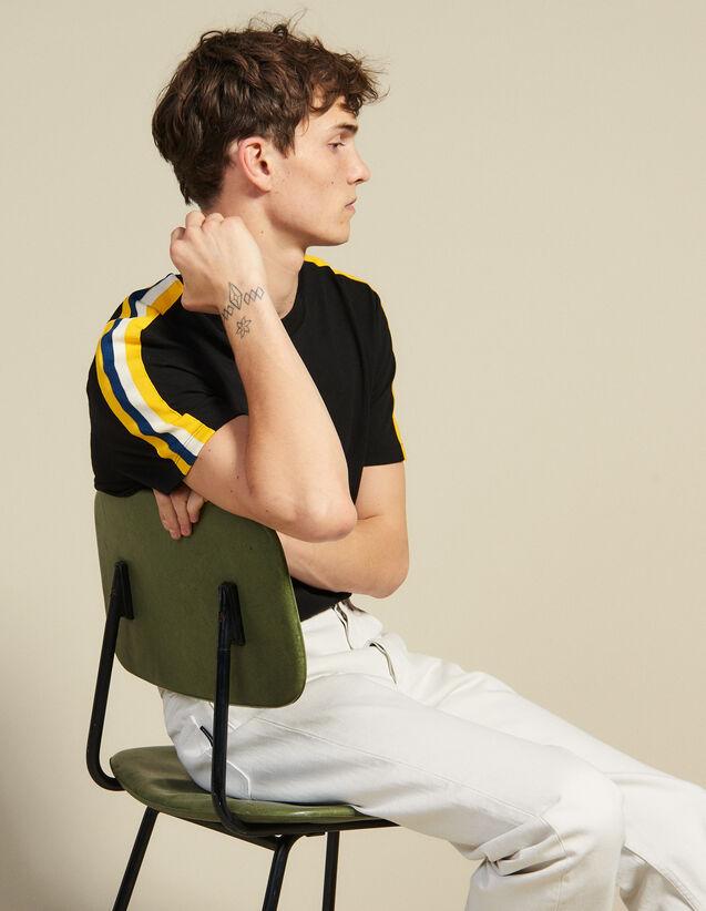 T-Shirt Mit Grafikborte : T-Shirts & Polos farbe Schwarz