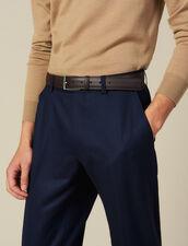 Gürtel Aus Genarbtem Leder : Die ganze Winterkollektion farbe Marron